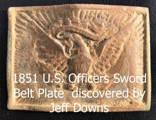 1851 U.S. Officers Sword Belt Plate discovered by Jeff Downs