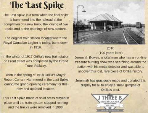 The Last Railroad spike by Jeremiah Bowes